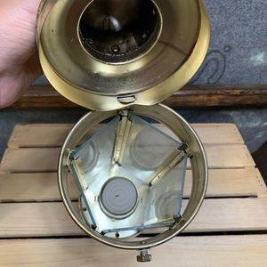 Vintage Accents - Vintage Gold & Glass Candle Lantern